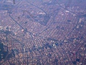 Ciudad de México vista desde un avión