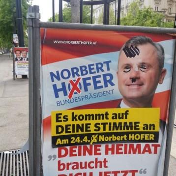 Publicidad del candidato de la ultra-derecha austriaca