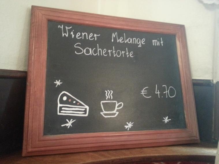 Sachertorte con café 4,70 €